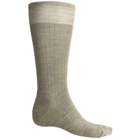 SmartWool New Classic Rib Casual Socks - Crew (For Men) in Oatmeal