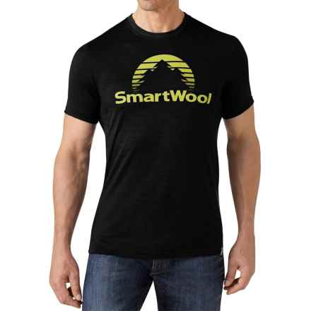 SmartWool New Day Sun T-Shirt - Merino Wool, Slim Fit, Short Sleeve (For Men) in Black - Closeouts