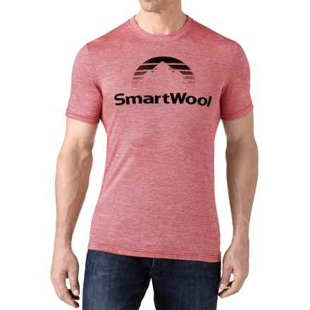 SmartWool New Day Sun T-Shirt - Merino Wool, Slim Fit, Short Sleeve (For Men) in Bright Red - Closeouts