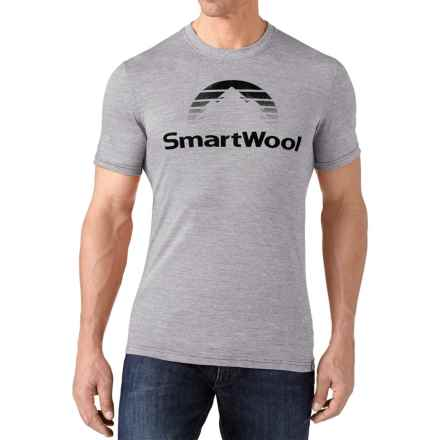 SmartWool New Day Sun T-Shirt - Merino Wool, Slim Fit, Short Sleeve (For Men) in Light Gray - Closeouts