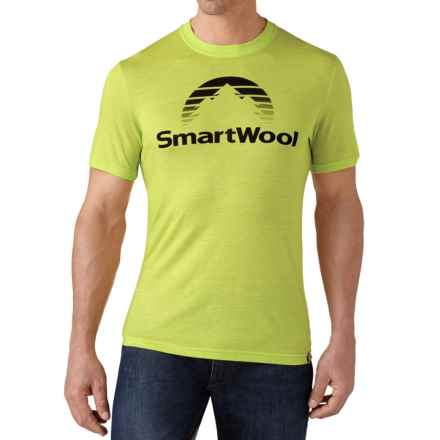 SmartWool New Day Sun T-Shirt - Merino Wool, Slim Fit, Short Sleeve (For Men) in Smartwool Green - Closeouts