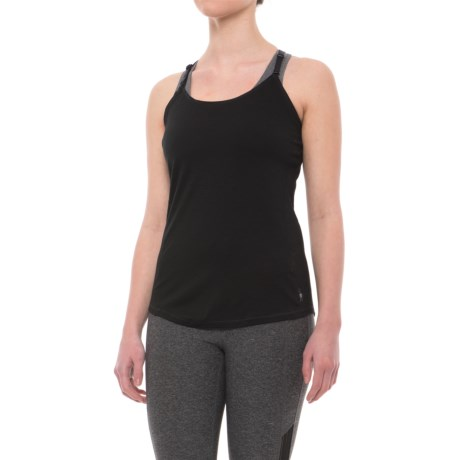 SmartWool Next-to-Skin 150 Strappy Tank Top Base Layer - Merino Wool (For Women) in Black