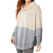 SmartWool Nokoni Color-Block Poncho - Merino Wool, Dolman Sleeve (For Women) in Natural Heather - Closeouts