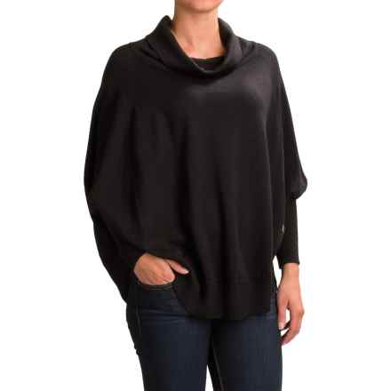 SmartWool Nokoni Poncho - Merino Wool (For Women) in Black - Closeouts