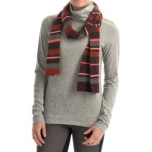 SmartWool Nokoni Scarf - Merino Wool (For Men and Women) in Aubergine Heather - Closeouts