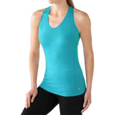 SmartWool NTS 150 Base Layer Tank Top - Merino Wool (For Women) in Light Capri - Closeouts