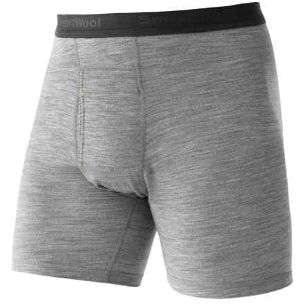 SmartWool NTS 150 Boxer Briefs - Merino Wool Blend (For Men) in Silver Grey Heather - Closeouts