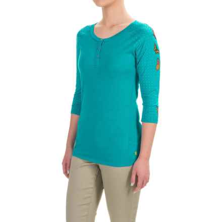 SmartWool NTS 150 Henley Shirt - Merino Wool, 3/4 Sleeve (For Women) in Capri - Closeouts