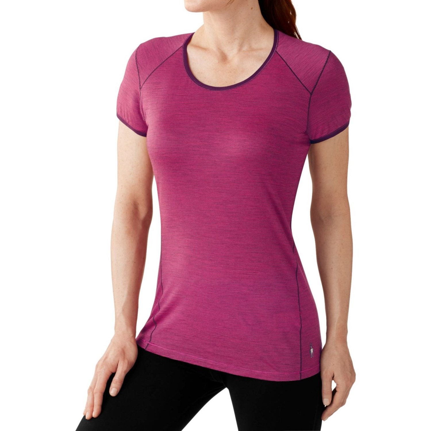 Smartwool nts 150 micro base layer top for women for Womens base layer shirt