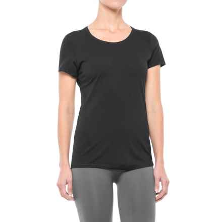 SmartWool NTS 150 Micro Solid Base Layer Top - Merino Wool, Short Sleeve (For Women) in Black - Closeouts