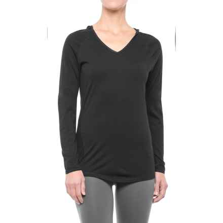 SmartWool NTS 150 Micro Solid Hooded Base Layer Top - Merino Wool, Long Sleeve (For Women) in Black - Closeouts