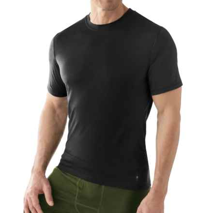 SmartWool NTS 150 Microweight Base Layer T-Shirt - Merino Wool, Short Sleeve (For Men) in Black - Closeouts
