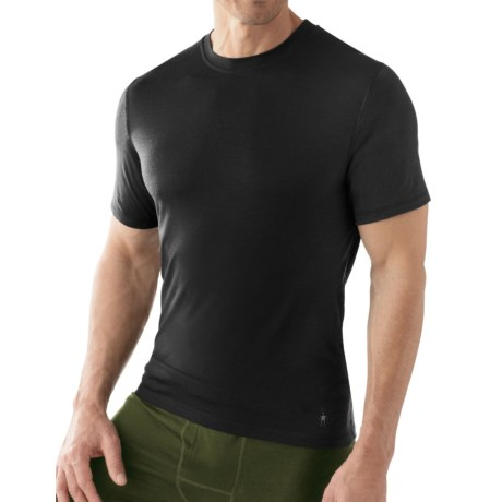 SmartWool NTS 150 Microweight Base Layer T-Shirt - Merino Wool, Short Sleeve (For Men) in Black