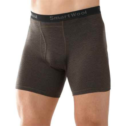 SmartWool NTS 150 Microweight Pattern Boxer Briefs (For Men) in Taupe - Closeouts
