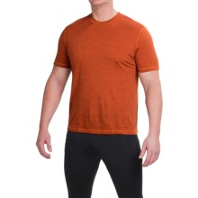 SmartWool NTS 150 Pattern Base Layer T-Shirt - Merino Wool, Short Sleeve (For Men) in Bright Orange - Closeouts