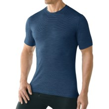 SmartWool NTS 150 Pattern Base Layer T-Shirt - Merino Wool, Short Sleeve (For Men) in Cadet Blue - Closeouts