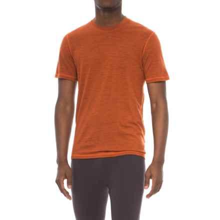 SmartWool NTS 150 Pattern Base Layer T-Shirt - Merino Wool, Short Sleeve (For Men) in Orange - Closeouts