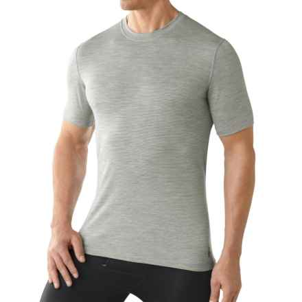 SmartWool NTS 150 Pattern Base Layer T-Shirt - Merino Wool, Short Sleeve (For Men) in Silver Grey Heather - Closeouts