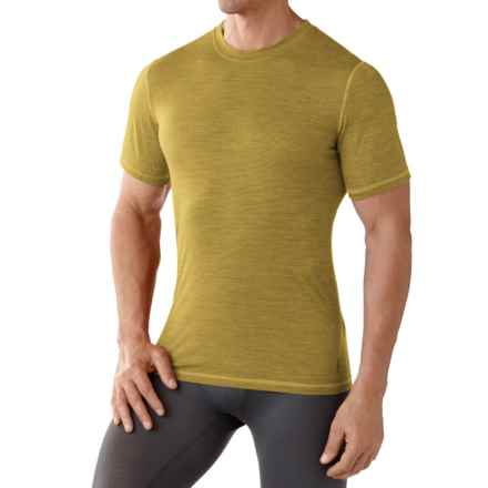 SmartWool NTS 150 Pattern Base Layer T-Shirt - Merino Wool, Short Sleeve (For Men) in Sunglow - Closeouts