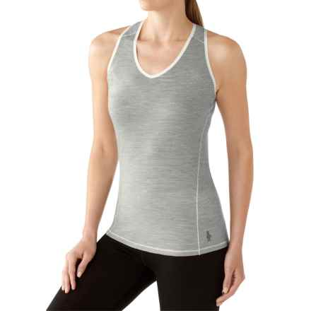 SmartWool NTS 150 Pattern Base Layer Tank Top - Merino Wool (For Women) in Silver Grey Heather - Closeouts