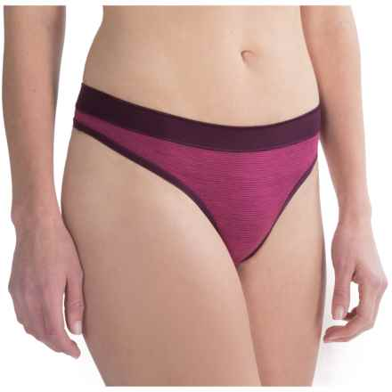 SmartWool NTS 150 Pattern Panties - Thong, Merino Wool (For Women) in Bright Pink - Closeouts