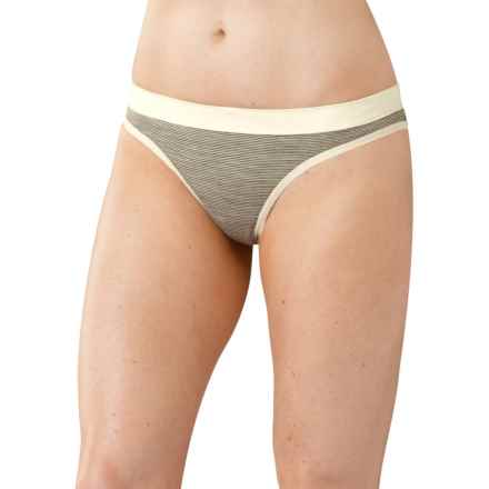 SmartWool NTS 150 Pattern Panties - Thong, Merino Wool (For Women) in Silver Grey Heather - Closeouts