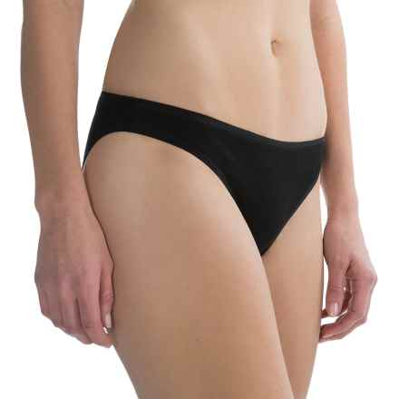 SmartWool NTS 150 Solid Panties - Bikini Briefs, Merino Wool (For Women) in Black - Closeouts