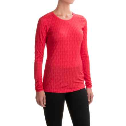 SmartWool NTS 150 T-Shirt - Merino Wool, Long Sleeve (For Women) in Hibiscus - Closeouts