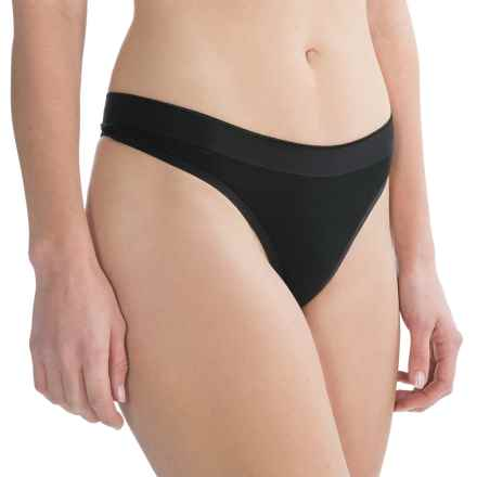 SmartWool NTS 150 Thong Panties - Merino Wool (For Women) in Black - Closeouts