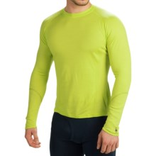 SmartWool NTS 195 Base Layer Top - Merino Wool, Crew, Long Sleeve (For Men) in Black/Smartwool Green - Closeouts