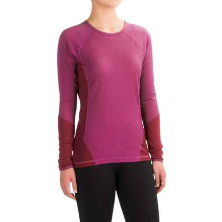 SmartWool NTS 195 Base Layer Top - Merino Wool, Long Sleeve (For Women) in Berry - Closeouts