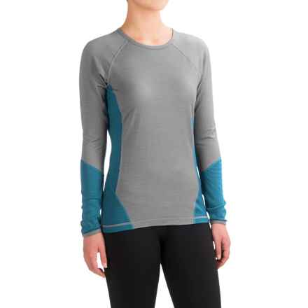 SmartWool NTS 195 Base Layer Top - Merino Wool, Long Sleeve (For Women) in Silver Gray Heather - Closeouts
