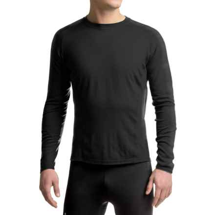 SmartWool NTS 195 Base Layer Top - Merino Wool, UPF 35, Long Sleeve (For Men) in Black/Charcoal - Closeouts