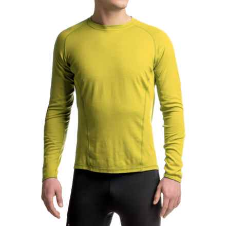 SmartWool NTS 195 Base Layer Top - Merino Wool, UPF 35, Long Sleeve (For Men) in Glow Green - Closeouts