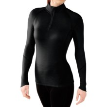 SmartWool NTS 195 Base Layer Top - Merino Wool, Zip Neck, Long Sleeve (For Women) in Black - Closeouts