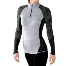 SmartWool NTS 195 Lightweight T-Shirt - Merino Wool, Zip Neck, Long Sleeve (For Women) in Black - Closeouts