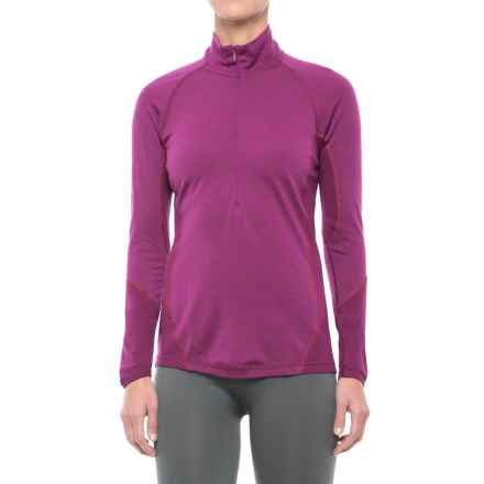 SmartWool NTS 195 Zip Neck Base Layer Top - Merino Wool, Long Sleeve (For Women) in Claret - Closeouts