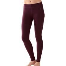 SmartWool NTS 250 Base Layer Bottoms - Merino Wool (For Women) in Aubergine Heather - Closeouts