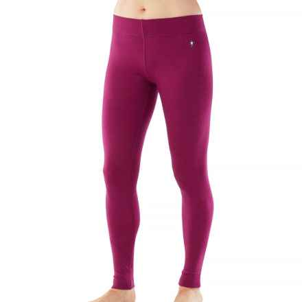 SmartWool NTS 250 Base Layer Bottoms - Merino Wool (For Women) in Berry Heather - Closeouts