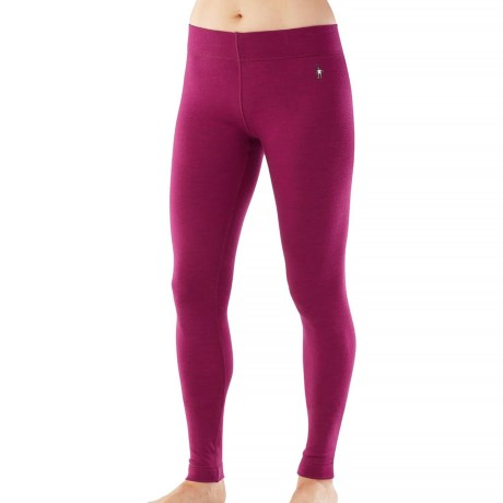 SmartWool NTS 250 Base Layer Bottoms - Merino Wool (For Women) in Berry Heather