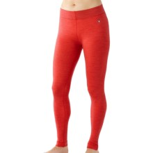 SmartWool NTS 250 Base Layer Bottoms - Merino Wool (For Women) in Hibiscus Heather - Closeouts