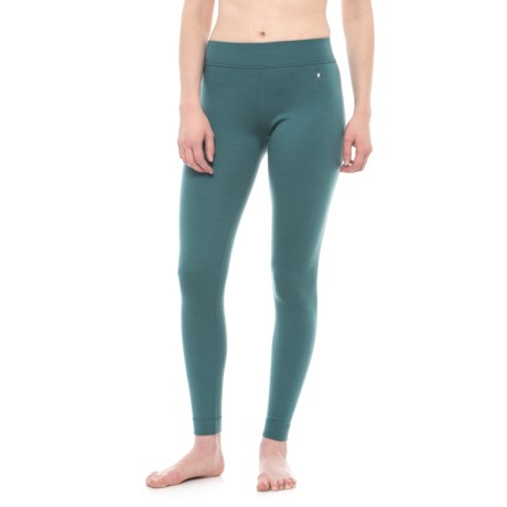 SmartWool NTS 250 Base Layer Bottoms - Merino Wool (For Women) in Sea Pine Heather