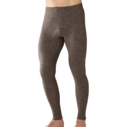 SmartWool NTS 250 Base Layer Bottoms - Merino Wool, Midweight (For Men) in Taupe Heather - Closeouts