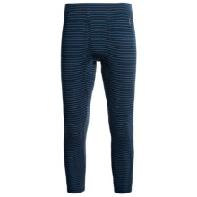 SmartWool NTS 250 Base Layer Bottoms - UPF 50+, Merino Wool, Midweight (For Men) in Deep Navy/Arctic Stripe - Closeouts