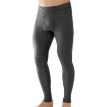 SmartWool NTS 250 Base Layer Bottoms - UPF 50+, Merino Wool, Midweight (For Men) in Graphite - Closeouts