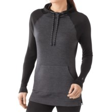 SmartWool NTS 250 Base Layer Hoodie - Merino Wool, Long Sleeve (For Women) in Charcoal Heather - Closeouts