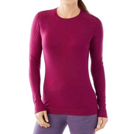 SmartWool NTS 250 Base Layer Top - Merino Wool, Crew Neck, Long Sleeve (For Women) in Berry Heather - Closeouts