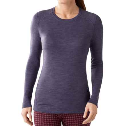 SmartWool NTS 250 Base Layer Top - Merino Wool, Crew Neck, Long Sleeve (For Women) in Desert Purple Heather - Closeouts