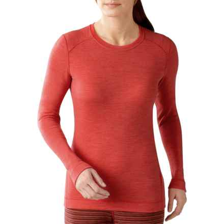 SmartWool NTS 250 Base Layer Top - Merino Wool, Crew Neck, Long Sleeve (For Women) in Hibiscus Heather - Closeouts