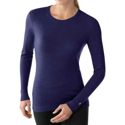 SmartWool NTS 250 Base Layer Top - Merino Wool, Crew Neck, Long Sleeve (For Women) in Imperial Purple Heather - Closeouts